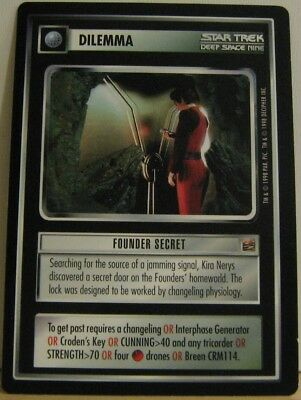 Star Trek TNG CCG Dominion Founder Secret Rare Card