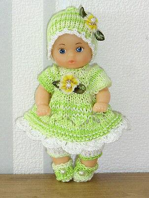 4-tlg Set Anzug Mütze Schuhe SE ,ARI ,EDI  Mini- Puppen 10 - 13 cm  Puppenstube