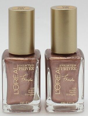 2PK L'OREAL PRIVEE COLLECTION (NAIL POLISH) #350 FREIDA'S NUDE IN BOX Best