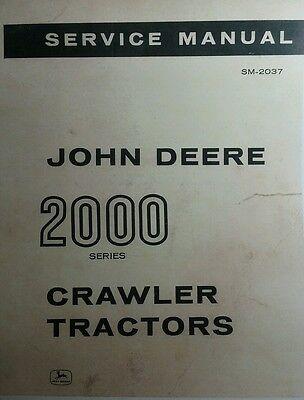 John Deere 2010 Crawler Loader Service Manual Tractor Dozer 2000 452pg Sm-2037