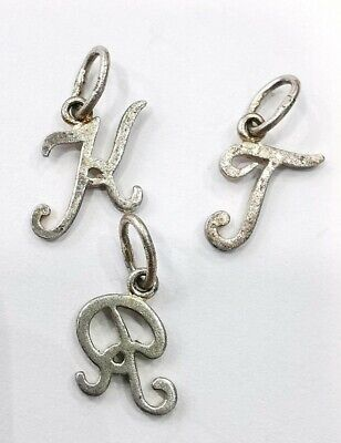 Lot 3 Pendants Miniatures Lettres R, K, T IN Argent. Ref56583