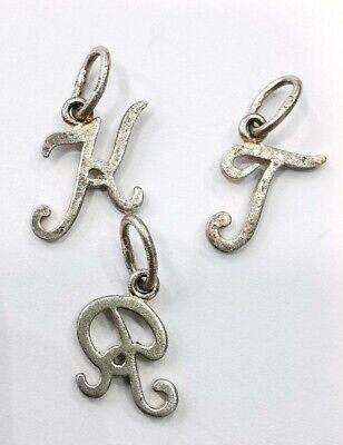 Lot 3 Pendants Miniatures Lettres R, K, T IN Argent. Ref56583