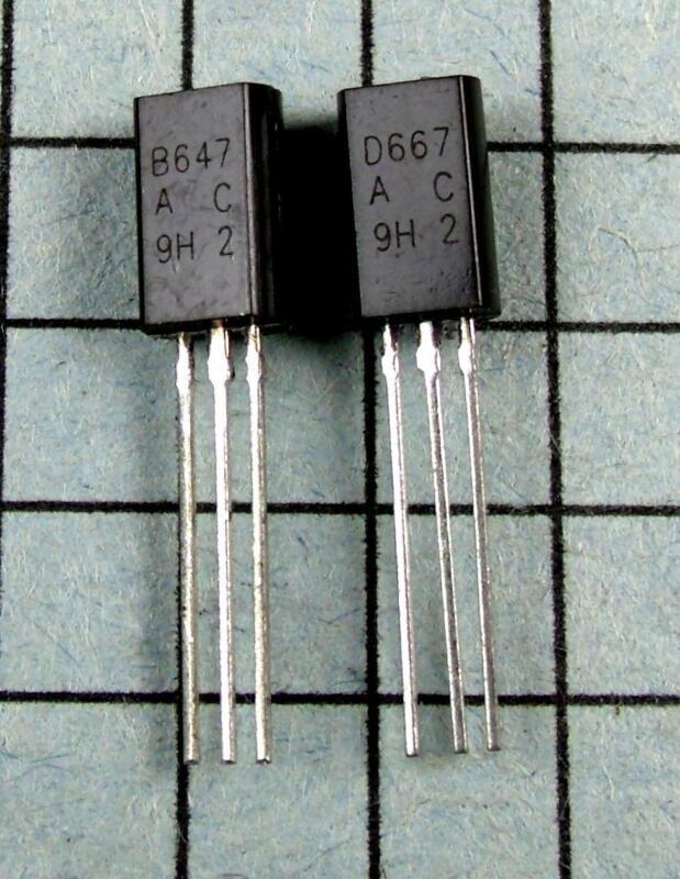 2SB647A & 2SD667A, B647A / D667A  : 5 pair per Lot