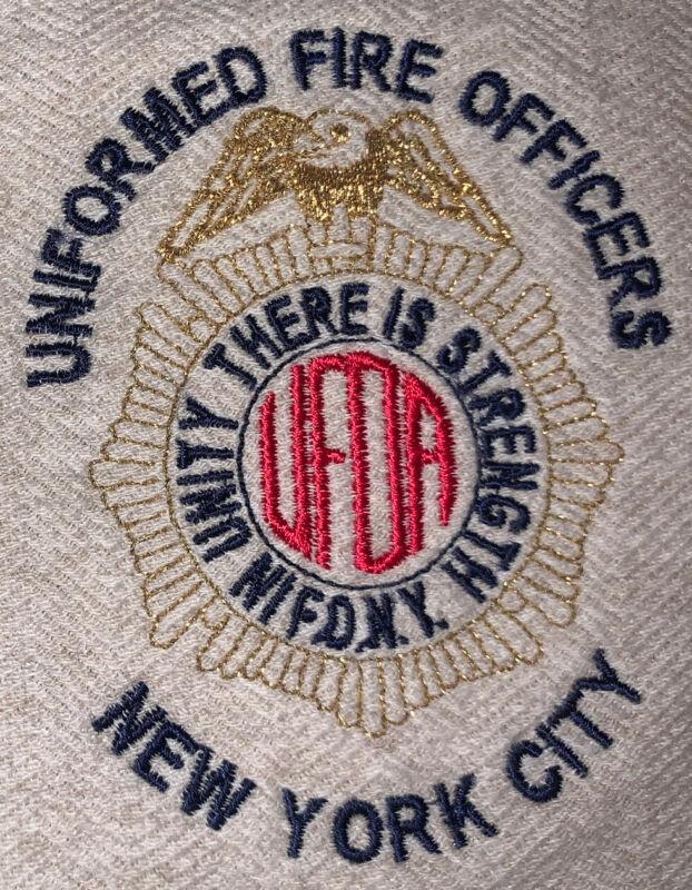 FDNY NYC Fire Department New York City Polo Shirt  Sz L Officers Team Manhattan