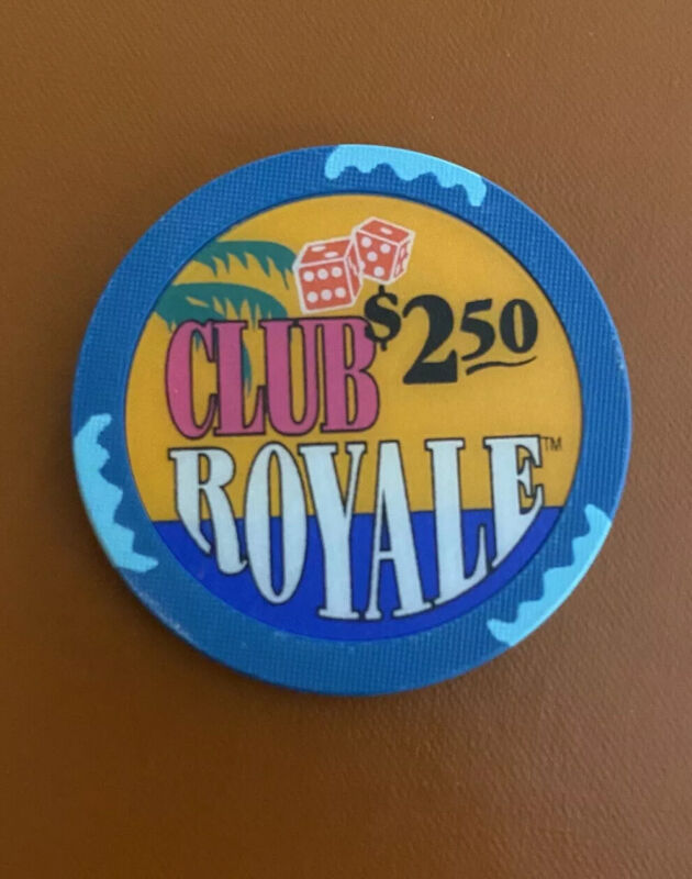 CLUB ROYALE  CRUISE SHIP, RARE $2.50 SNAPPER CASINO WET CHIP,  SUNK OFF FLORIDA