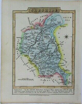 Antique map of Cheshire by William Lewis 1819