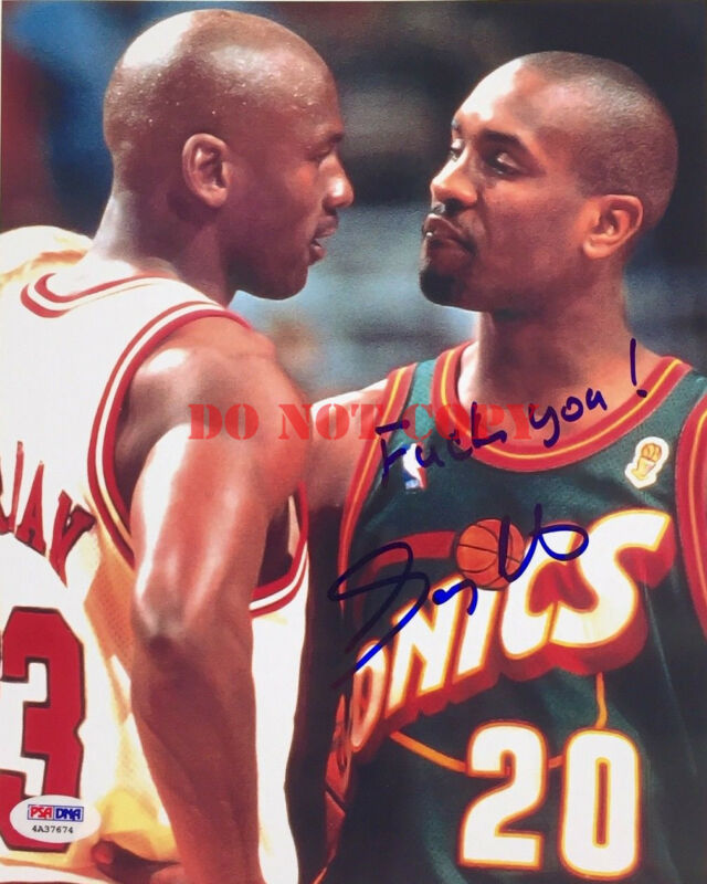 Gary Payton Signed Fck You Michael Jordan 8x10 Photo Reprint