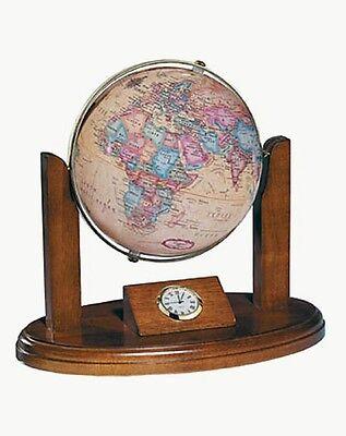 Replogle Globes Herff Jones Executive Desk Top Clock Globe, Antique Ocean