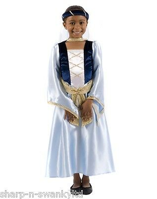 Childs Girls Maid Marian Robin Hood Medieval Princess Fancy Dress Costume - Maid Marian Costume Child