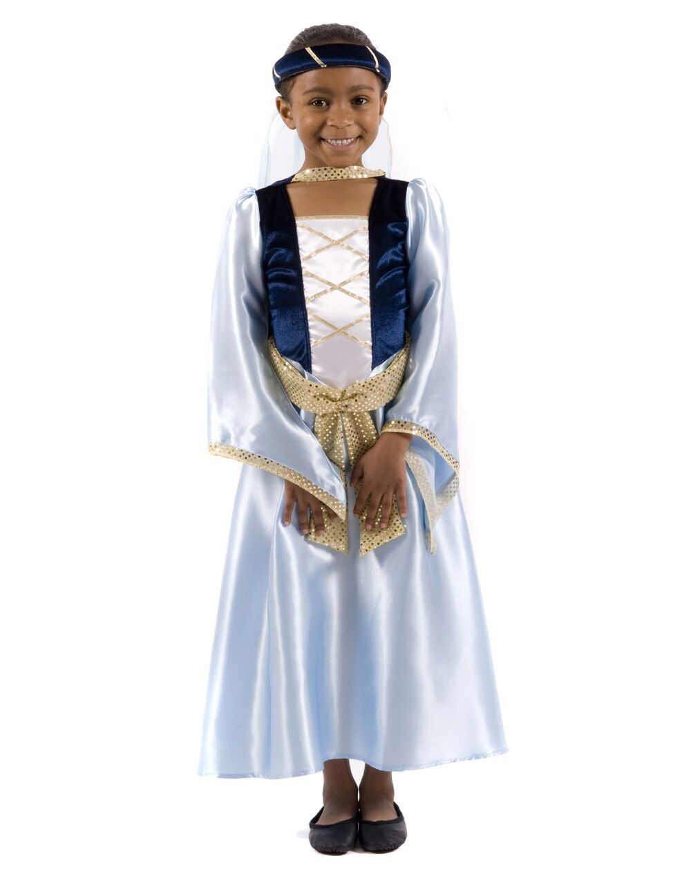 Enfant Filles Marianne Robin des Bois Princesse Médiévale Fantaisie Robe Costume Outfit