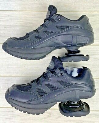 Z-COIL Freedom Womens 9 Black Leather Athletic Shoe Walking orthopedic spring