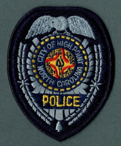 High Point North Carolina Police Patch  -  Silver/Blue