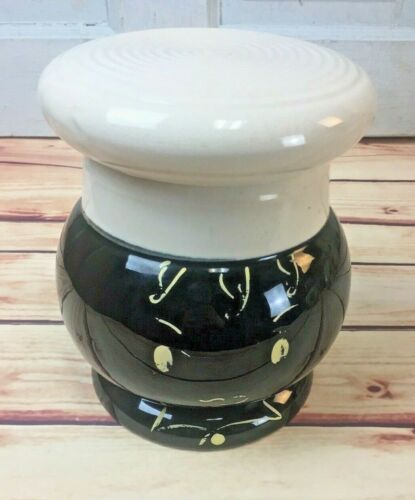 Adorable Chef Cookie Jar Blk Americana