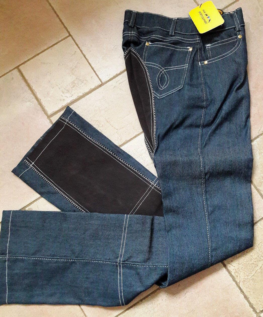 HKM Damen Jeans Jodhpur Vollbesatz Reithose Gr. 34 - 54 New Western