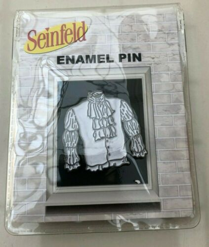 """NEW SEALED 2020 Culturefly Seinfeld 1.5"""" Jerry Puffy Pirate Shirt Metal Pin"""