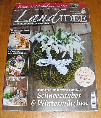 Zeitschrift Landidee, Nr. 2 - Januar & Februar 2015 -NEU-