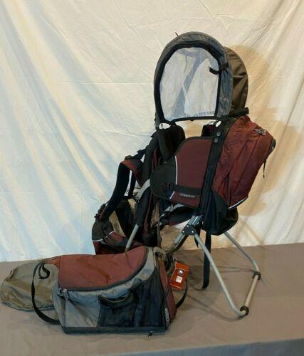 REI Piggyback Kid Carrier/Baby Backpack w/Rain Bonnet & Diaper Bag EXCELLENT