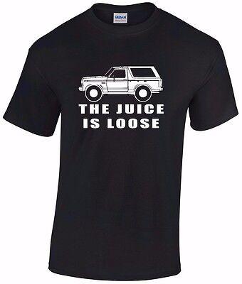 Oj Simpson White Bronco  The Juice Is Loose  T Shirt Tee A T Shirt