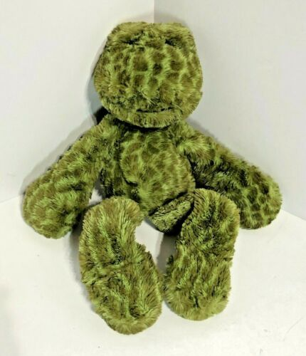 "Jellycat Merryday Plush Frog Green Spotted Stuffed Animal 15"" Soft Floppy"