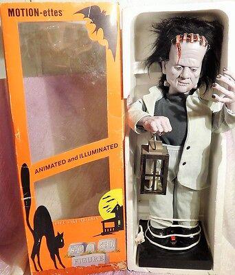 """Rare Telco Animated Motion-ette 24"""" Frankenstein 1986 & Orig. Box"""