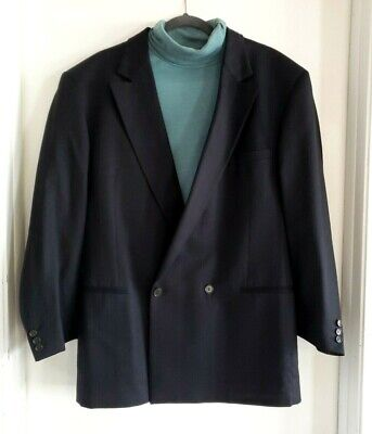 Versace Classic V2 Black Jacket Textured Blazer Men's Sports Coat Size 42 Large