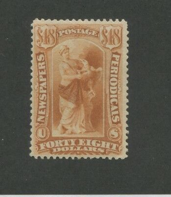 1879 United States Newspaper & Periodical Stamp #PR78 Mint Regummed Certified