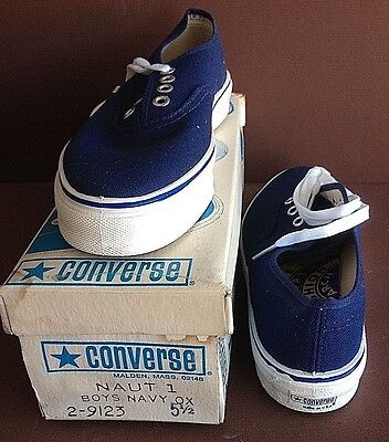 """8 LOT------Converse """"Nautilus"""", USA made, 1975 in Orig. Box, Unworn, DECK SHOES"""