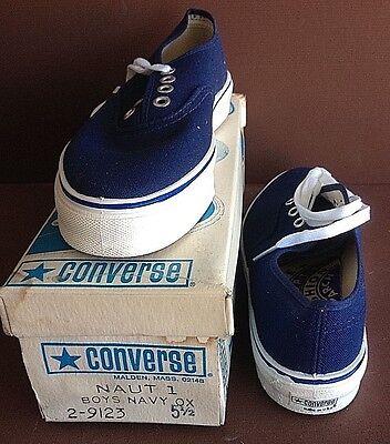 "10-Converse ""Nautilus"", USA made, 1975 in Orig. Box, Unworn, Boat Shoe, Size 1-6"