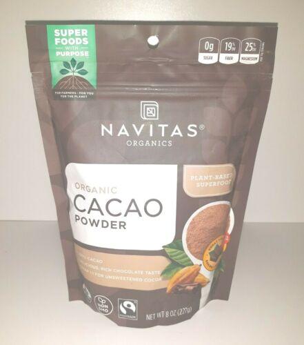 Brand NEW Navitas Organics Organic Cacao Powder SEALED FRESH 09/2022