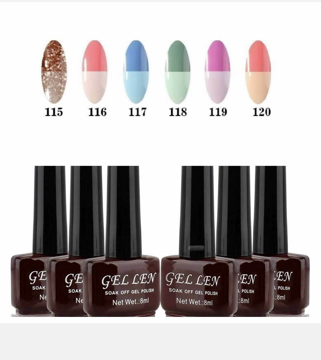 Gellen Gel Nail Polish Set 6Colors,Temperature Color Changin