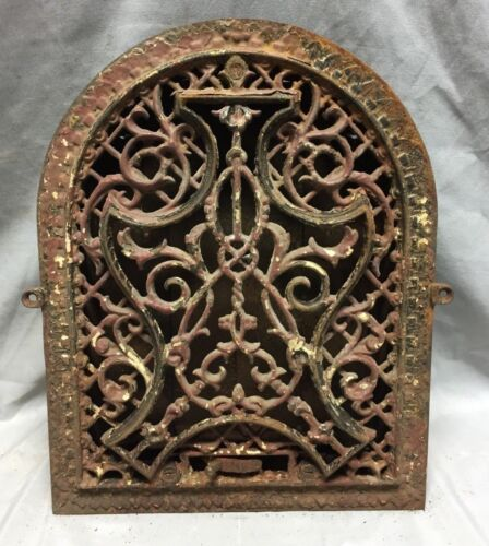 Antique Cast Iron Arch Decorative Heat Grate Register 9X12 Dome Vintage 29-19C