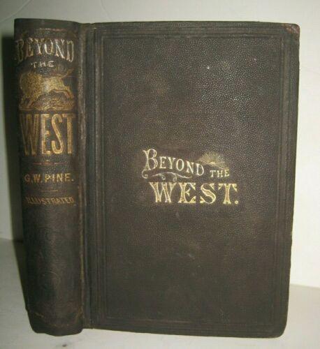 1873 ❤️ ANTIQUE BOOK_OLD WESTERN STATES_CALIFORNIA +_MORMON_BUFFALO HUNT_INDIANS