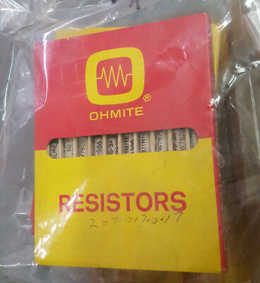 Lot Of 10 Ohmite 995-3a 50 Ohm 3.25watt Ceramic Wire Wound Axial Resistor