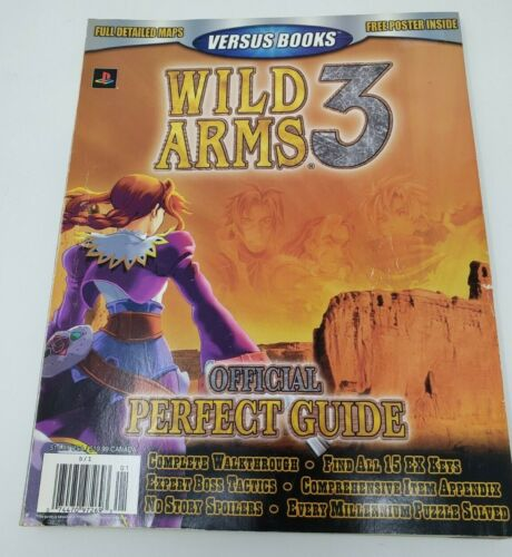 Vintage Wild Arms 3 Official Perfect Guide Playstation 2