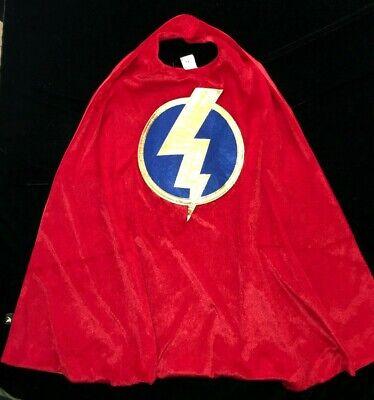 LITTLE ADVENTURES RED VELVET HALLOWEEN COSTUME CAPE lightning bolt ONE SIZE KIDS](Red Velvet Cape)