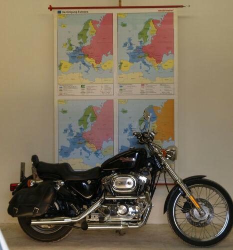 Schulwandkarte Wall Map Einigung Europe Eu Kalter War 54 5/16x76in Vintage 1992
