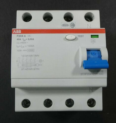 ABB F204 A-40/0,03 Fehlerstrom-Schutzschalter   2CSF204101R1400