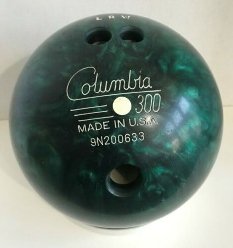 Vintage Galaxie 300 Bowling Ball Mable Green Planetary Swirl.