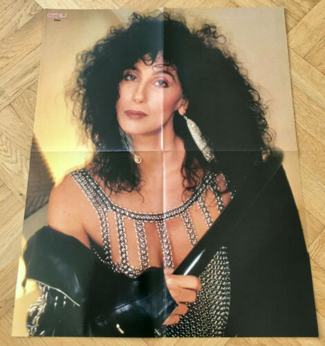 1989 CHER Swedish Poster Magazine Okej 1980s Vintage Rare