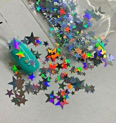 Holographic Mixed Sizes Star Glitter   1 TSP   Gel Nail Art & Acrylic