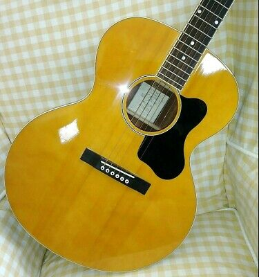 Recording King RJJ-116 Jumbo Acoustic Guitar with molded hard case