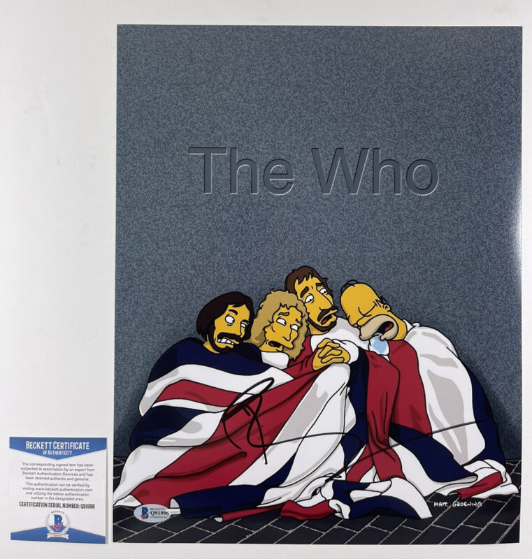 PETE TOWNSHEND SIGNED THE WHO SIMPSONS 11x14 PHOTO AUTHENTIC BAS COA #Q91996