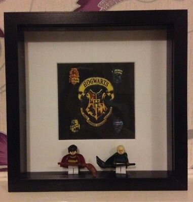 Harry Potter and Draco Malfoy Quidditch mini figure frame gift Christmas bday