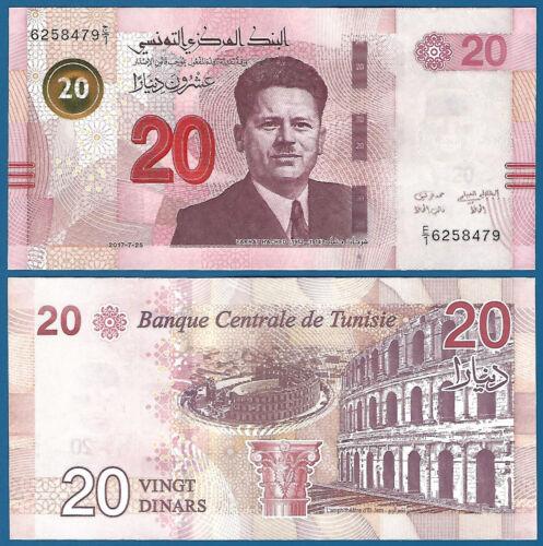 Tunisia 20 Dinars P 97 2017 UNC Low Shipping! Combine FREE!