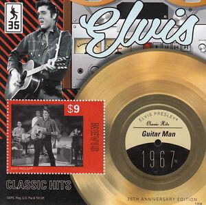 Nevis-2012-MNH-Elvis-Presley-Classic-Hits-IV-1v-S-S-1967-Guitar-Man