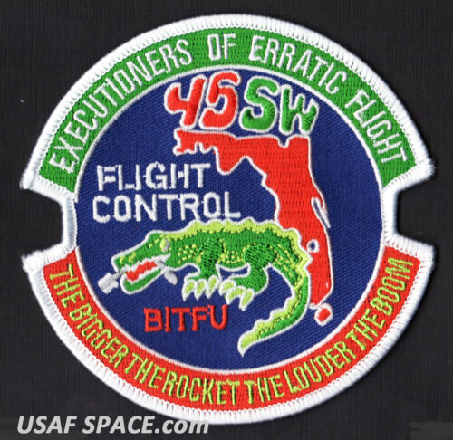 USAF FLIGHT CONTROL - EXECUTIONERS OF ERRATIC FLIGHT - 45 SW BITFU SPACE PATCH