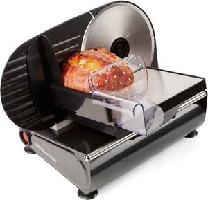 Andrew James Food Slicer Electric Meat Cutter with 3 Stainless Steel Blades