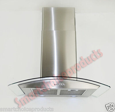 "30"" Kitchen Wall Mount Stainless Steel Glass Range Hood S-H703G-75 Stove Vents on Rummage"