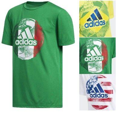 Soccer Kids Shirt (Adidas Boy's Kids NEW World Cup Soccer T-Shirt Crew Neck Regular Fit)