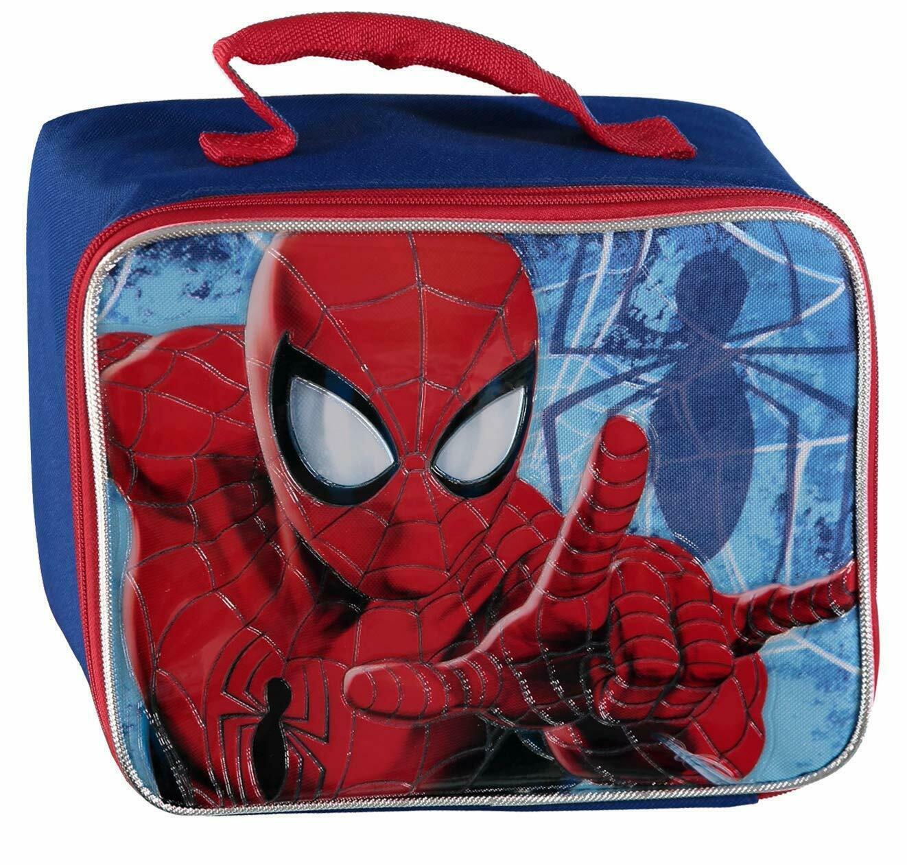 spiderman insulated lunch box snack bag